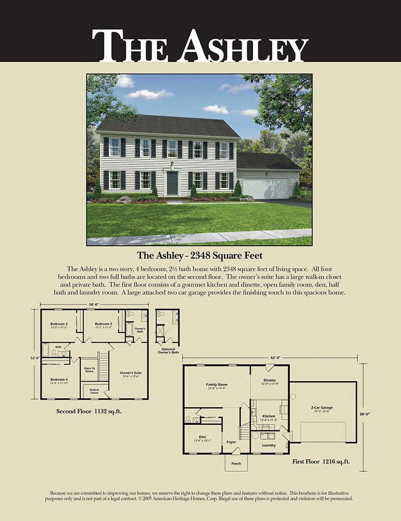 The ashley floor plan american heritage homes