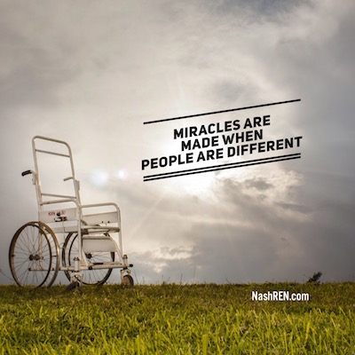 Miracles are made when people are different