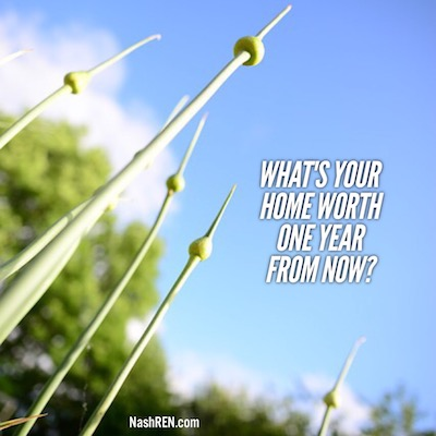 Whats your home worth one year from today?