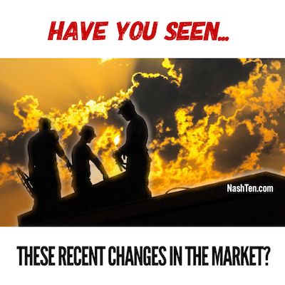 Have you seen these recent changes in the market