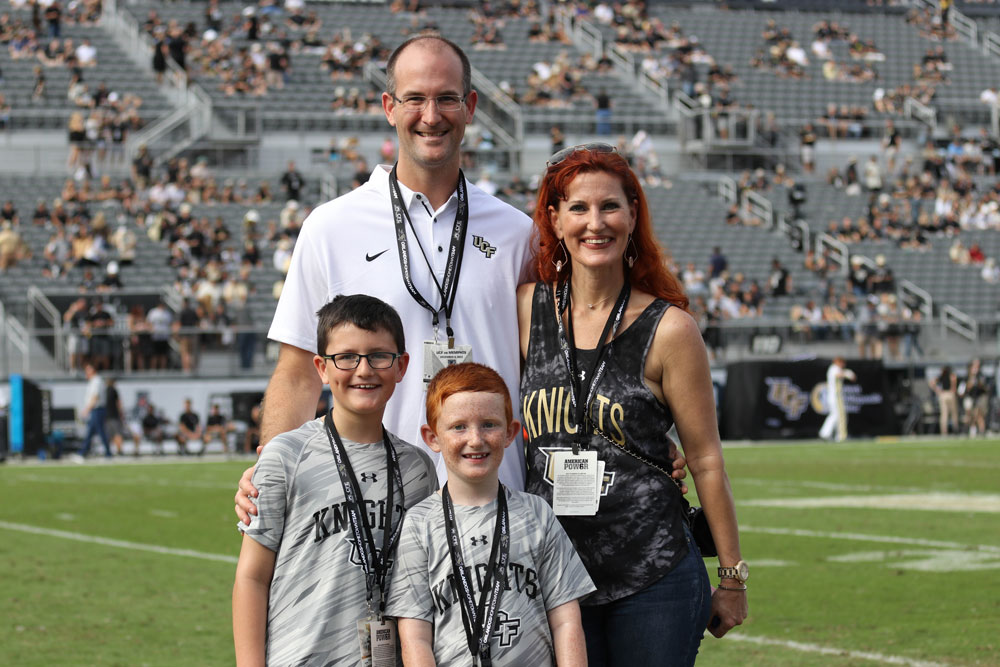 kevin family ucf game