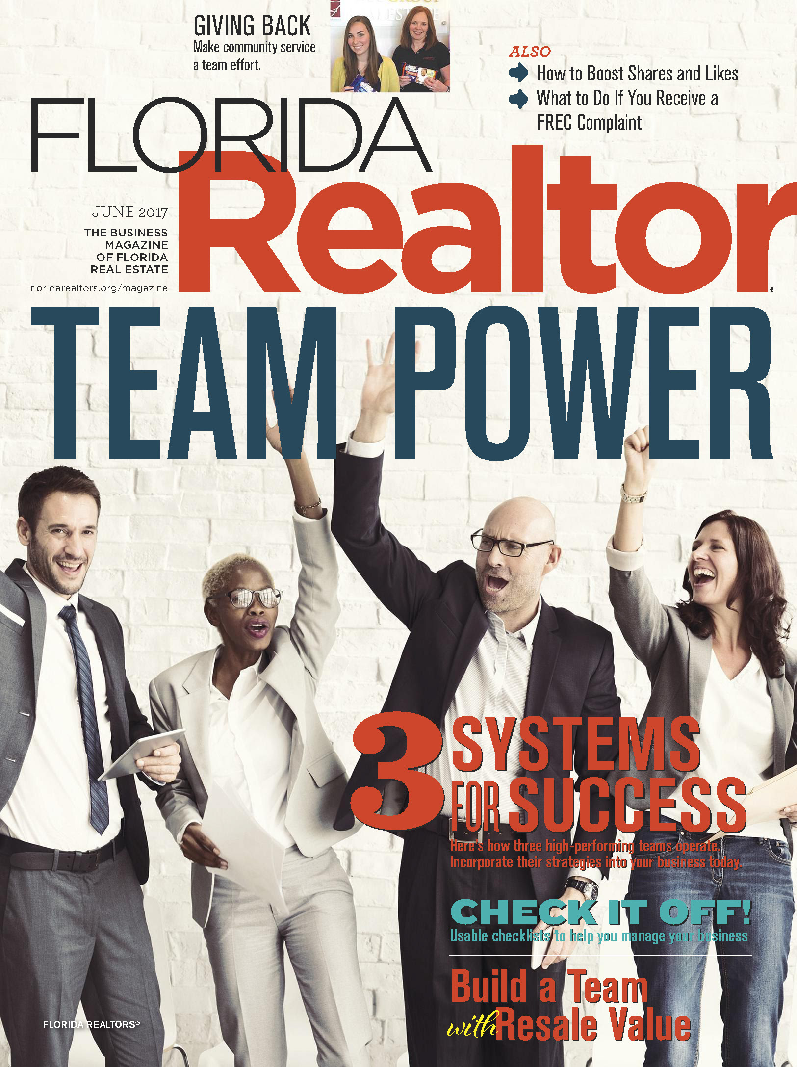 Treu Group Real Estate featured on cover of Florida Realtor Magazine