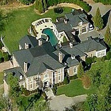 An overhead view of the estate home located at 1867 W Wesley Road NW.