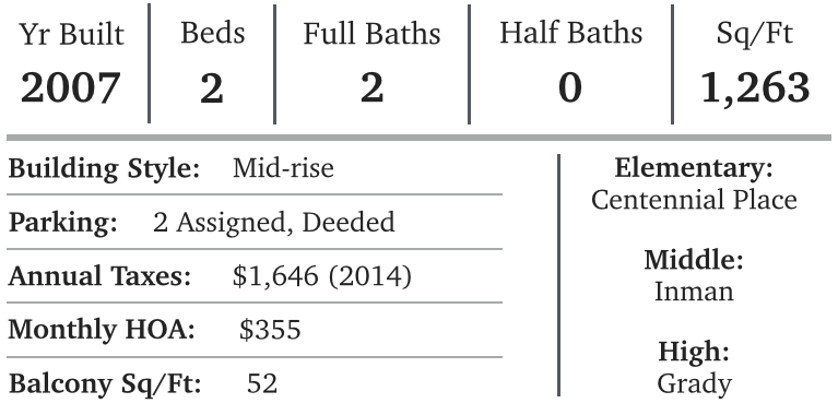 Listing summary for unit #4066 at Element including beds, baths, size, schools and HOA.