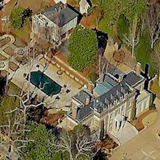An overhead view of the property located at 7 Cherokee Road NW.