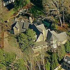 An overhead view of the luxury home at 831 Fairfield Road NW.