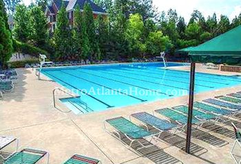 The community pool and HOA amenities at Amberfield in Peachtree Corners, GA.