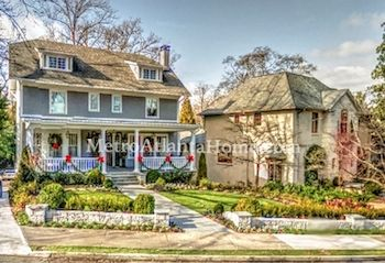 Luxury homes in the Ansley Park neighborhood of Atlanta, GA.