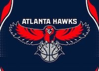 The Atlanta Hawks logo.