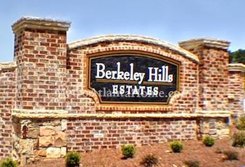 The Berkeley Hills neighborhood entrance sign.
