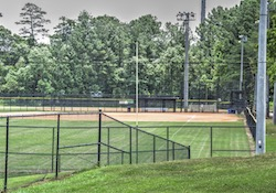 Blackburn Park softball fields & playground in Brookhaven, GA.