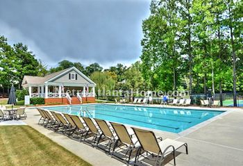 The neighborhood pool and amenities at Brooke Farm.