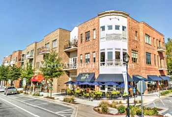 Shopping, dining and upscale condos at Brookhaven Village.