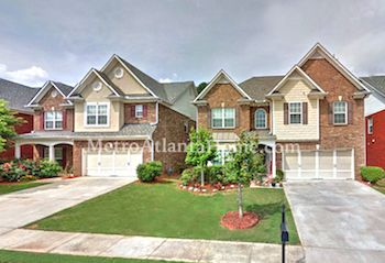 Homes for sale in Lilburn's Brookwood neighborhood.