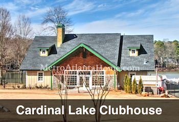 The Cardinal Lake Estates community clubhouse.