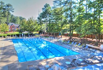 The swimming pool at Chatsworth in Roswell, GA.