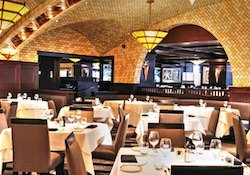 Chops steakhouse dining room.