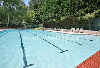 The neighborhood pool at Deerfield in Sandy Springs, GA.