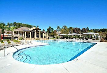 The Deerlake neighborhood swimming pool in Alpharetta, GA.