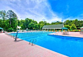 The community pool and amenities at Doublegate in Johns Creek.