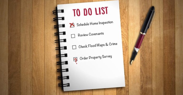 A list of items a buyer may need to complete during their due diligence period.