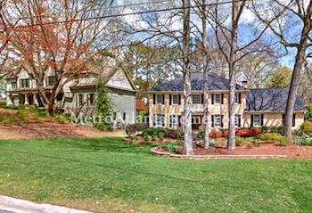 Residential real estate in the Dunwoody Club Forest neighborhood.