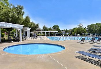 The swimming pool and community amenities at Edenwilde in Roswell, GA.