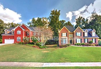 Residential real estate in Lilburn's Evergreen neighborhood.