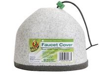 Inexpensive outdoor faucet cover available at local hardware stores.