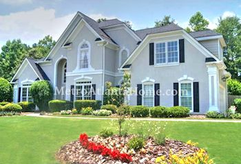A large two-story home located in the Foxhall subdivision.