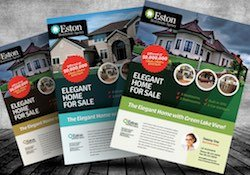 Samples of three different for sale by owner marketing flyers.