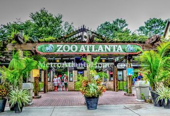 The entrance to Zoo Atlanta in the heart of the Grant Park neighborhood.