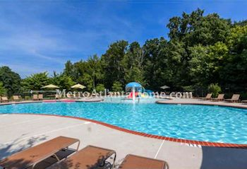 The neighborhood pool at Hanover Place in Alpharetta, GA.