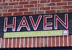 Sign and logo for Haven Restaurant & Bar in Brookhaven.