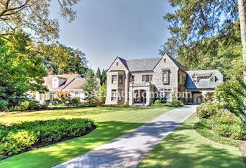 Luxury homes in the Historic Brookhaven neighborhood.