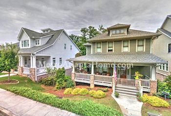 Newer Craftsman style homes in the Historic Norcross community.