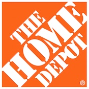 Orange and white Home Depot logo, small.