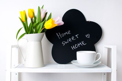 Flowers and staging accessories to get a home sold quickly.