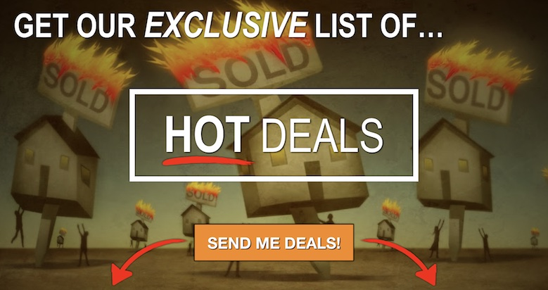 Get our exclusive list of hot deals. Enter your information below to get started.