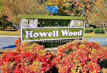 The entry sign to the Howell Wood neighborhood.