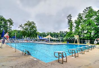 The neighborhood pool at Kingsley in Dunwoody, GA.