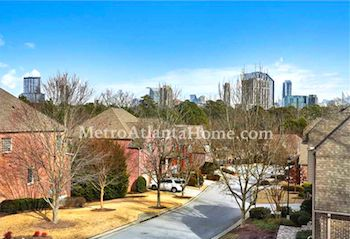 View of the Buckhead skyline from the top of a Lenox Park home.
