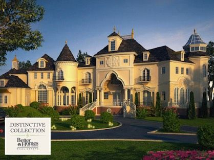 A European style luxury home for sale in Atlanta with Distinctive Collection logo.