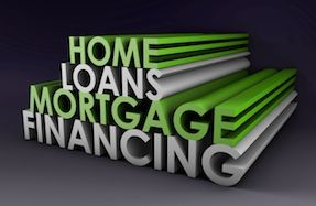 Home Loans Mortgage Financing text zoom across screen for BHGRE mortgage brokers.