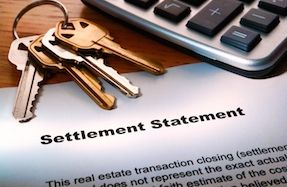 Keys and settlement statement from Metro Title Trust, Real Estate closing attorney.