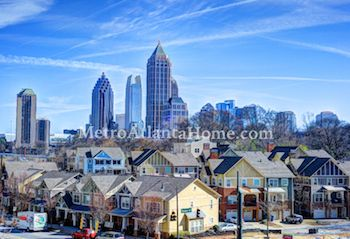 The Midtown Atlanta skyline during the day.