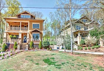Two Craftsman style homes located in Decatur's Midway Woods neighborhood.