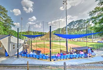 The baseball fields at Murphey Candler park in Brookhaven, GA.