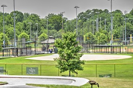Murphey Candler Park softball and football fields in Brookhaven, GA.