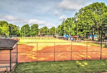 A baseball field and city park in Oakhurst.